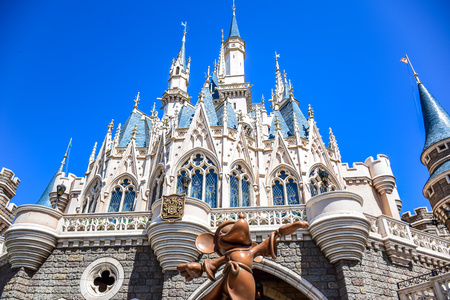 CHIBA, JAPAN: View of Tokyo Disneyland Cinderella Castle Redakční