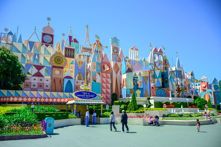 CHIBA, JAPAN: Its A Small World attraction in Fantasyland, Tokyo Disneyland Editorial