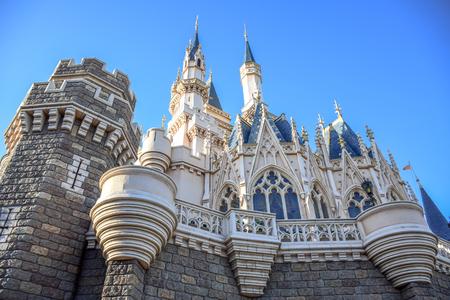 storybook: CHIBA, JAPAN: View of Tokyo Disneyland Cinderella Castle Editorial