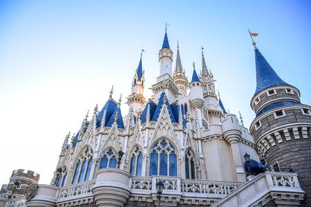 CHIBA, JAPAN: View of Tokyo Disneyland Cinderella Castle 報道画像