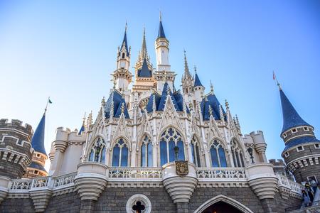CHIBA, JAPAN: View of Tokyo Disneyland Cinderella Castle Editorial