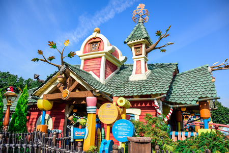 CHIBA, JAPAN: Toontown attraction in Tokyo Disneyland