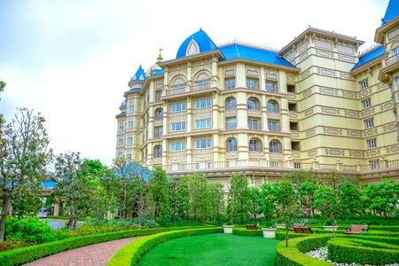 CHIBA, JAPAN: View of Tokyo Disneyland Hotel located in Tokyo Disney Resort, Urayasu, Chiba, Japan