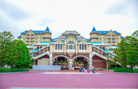 CHIBA, JAPAN: Tokyo Disneyland Resort monorail station, Urayasu, Chiba, Japan