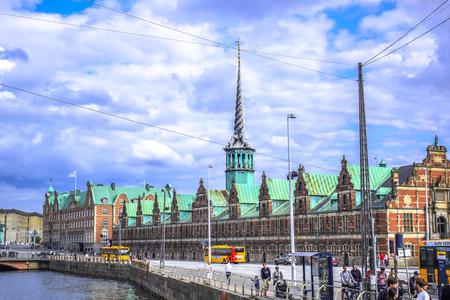 17th: COPENHAGEN, DENMARK: Børsen, The Stock Exchange built in 17th century located in the center of Copenhagen