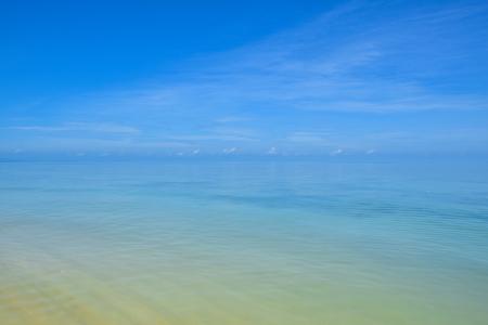 Beautiful Thailand sand beach and tropical sea in a clear blue sky day, Samui island, Surat Thani