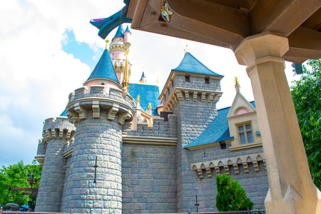 Disneyland Hong Kong, Sleeping Beauty Castle at the center of the park Editorial