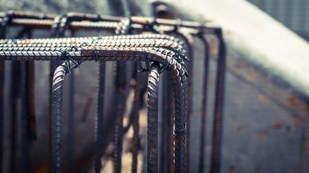Dowel bar Steel for reinforcement structure foundation framework underground construction.