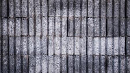 concrete vintage pattern block wall texture. Rustic wall design idea background.