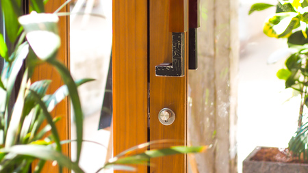 open the door nature in the house lifestyle decoration design idea. Reklamní fotografie