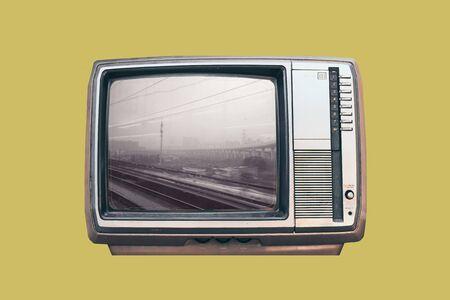 realistic retro television mock up .