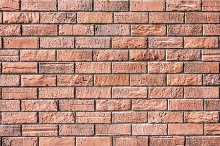 Red Bricks Background .Old grunge red brick wall background. Picture backdrop