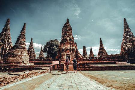 November 2019, Ayutthaya Thailand Tourist visit Wat Chaiwatthanaram is a Buddhist temple in the city of Ayutthaya Historical Park, Thailand
