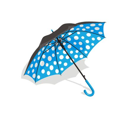 Blue umbrella Stock Vector - 16185729