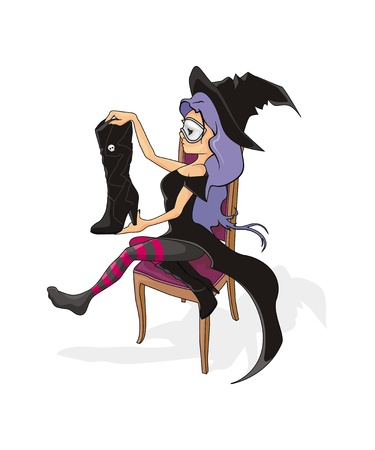 The girl dress up to Halloween