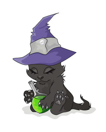 Cat on a Halloween