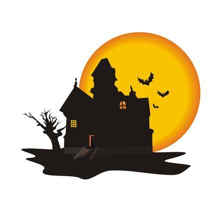House on a Halloween Illustration