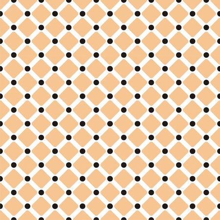 Seamless texture or background with image of check and square Illustration