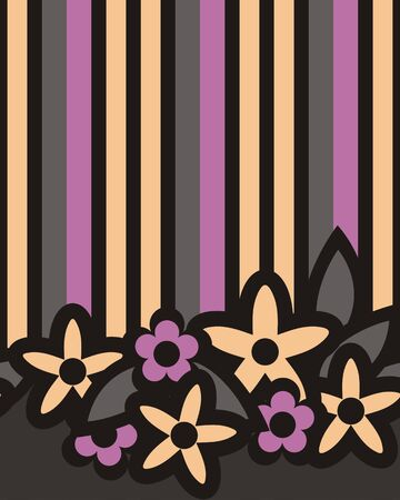 strip structure: Stripes and flowers