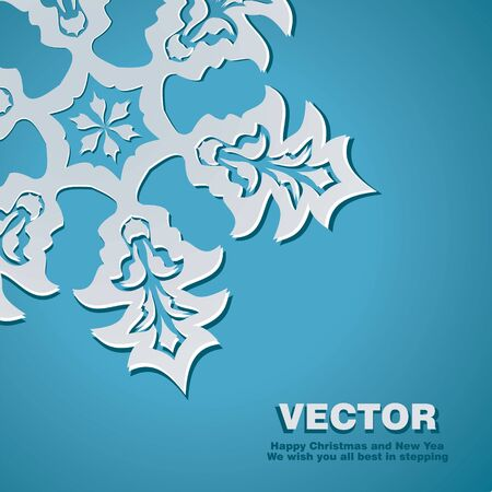 Background snowflake to Christmas and New Year Illustration