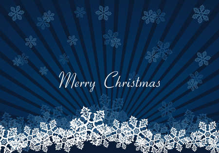 Holiday background dark blue color, flake of snow