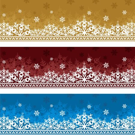 Three backgrounds to Christmas and New Year of different colors