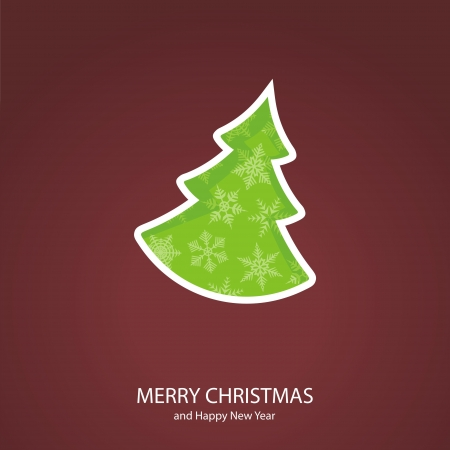 Symbols of Christmas and New Year of form coniferous tree