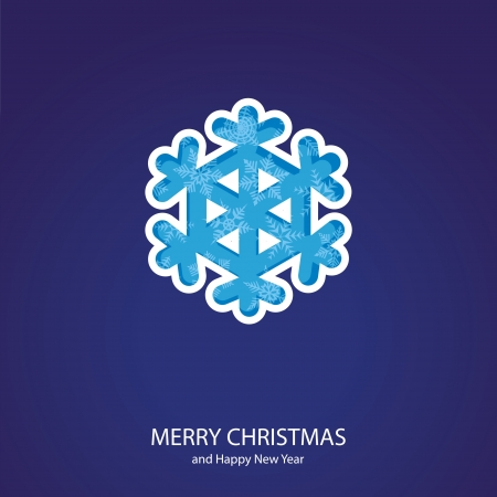 Symbols of Christmas and New Year of form snowflake Vector