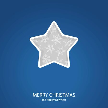 Symbols of Christmas and New Year of form star Illustration