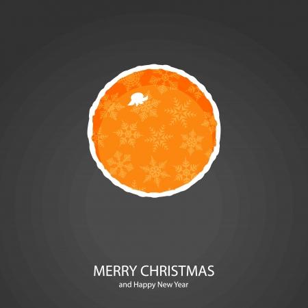 Symbols of Christmas and New Year of form orange Illustration