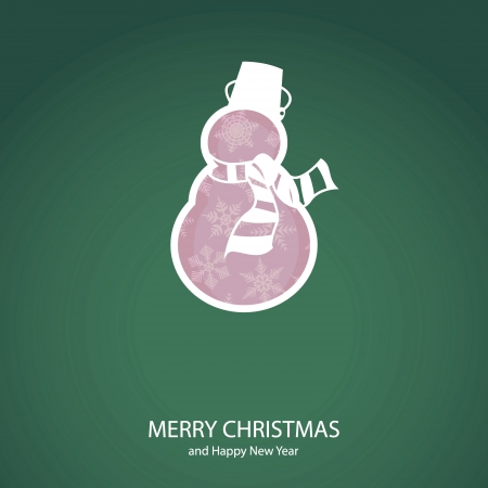 Symbols of Christmas and New Year of form snow man Illustration