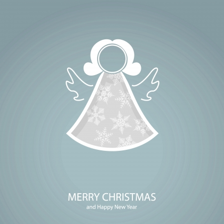 Symbols of Christmas and New Year of form angel Vector