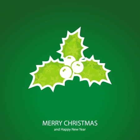 Symbols of Christmas and New Year of form berry Vector