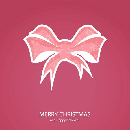 Symbols of Christmas and New Year of form bow Illustration