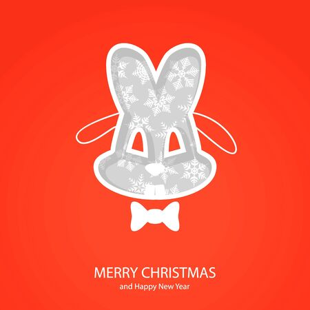 Symbols of Christmas and New Year of form hare