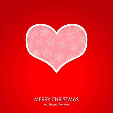 Symbols of Christmas and New Year of form heart