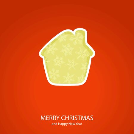 Symbols of Christmas and New Year of form house Illustration
