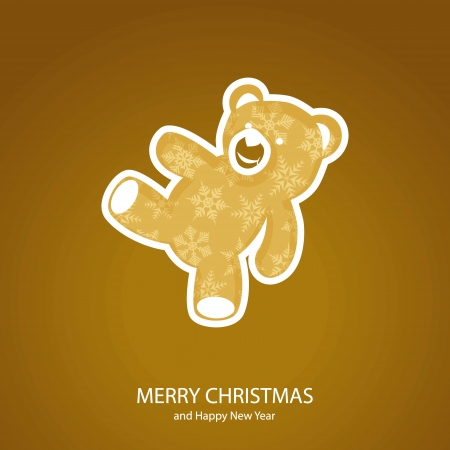 Symbols of Christmas and New Year of teddy bear