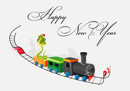 Snake goes as symbol of New Year Stock Vector - 16931501