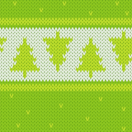 Background or texture connected pattern of Christmas tree Illustration