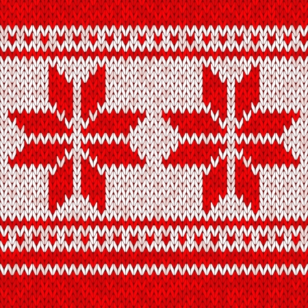 Background or texture knitted pattern of snow Illustration