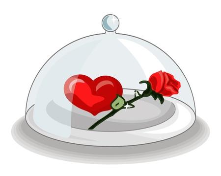 solemn: Presentaci�n solemne de desayuno de coraz�n y rosa