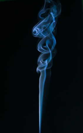 notional: blue color smoke Stock Photo