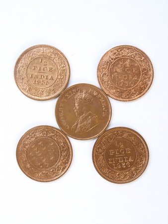 indian old copper coins photo