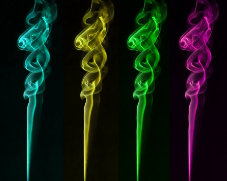 smoke: kleurrijke rook