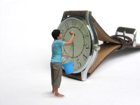 garbage collector: limpieza ni�o de reloj de pulsera