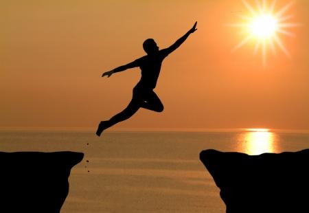 man jumping photo