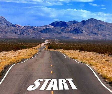empezar: camino inicio Foto de archivo