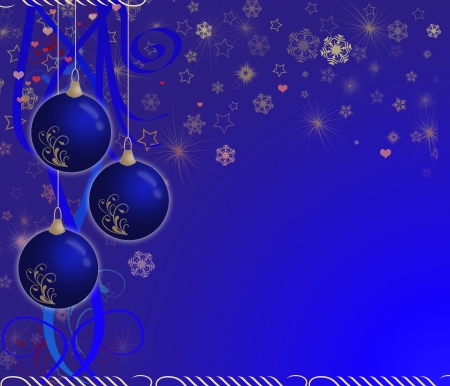 creative christmas card blue Stock Photo