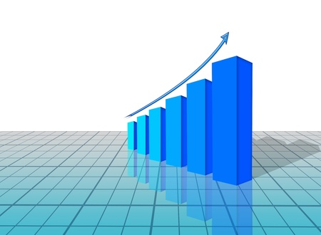 3d graph Stock Photo - 15876207